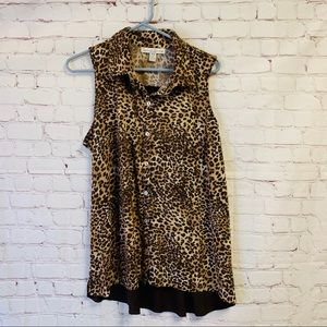 French Laundry Woman 14/16 Sleeveless Cheetah